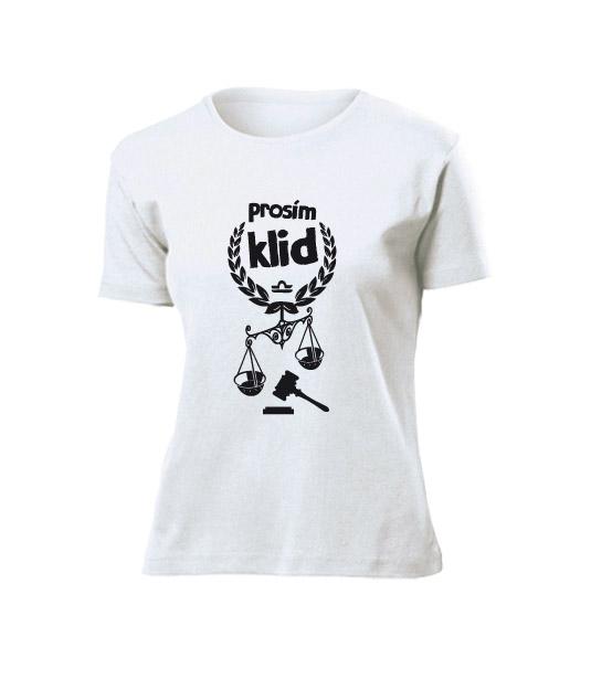 059f01916ff0 Dámské tričko Váhy - Prosím klid - Astronákupy