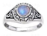 Astrologický prsten s měsíčním kamenem